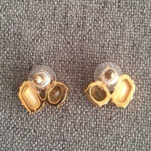kate spade Jewelry - Kate Spade yellow and cream rhinestone earrings